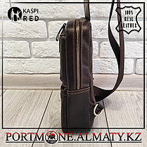Мужской рюкзак- слинг Contacts, натуральна кожа 100%., фото 3