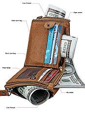 Кожаное портмоне RFID protected - защити себя!