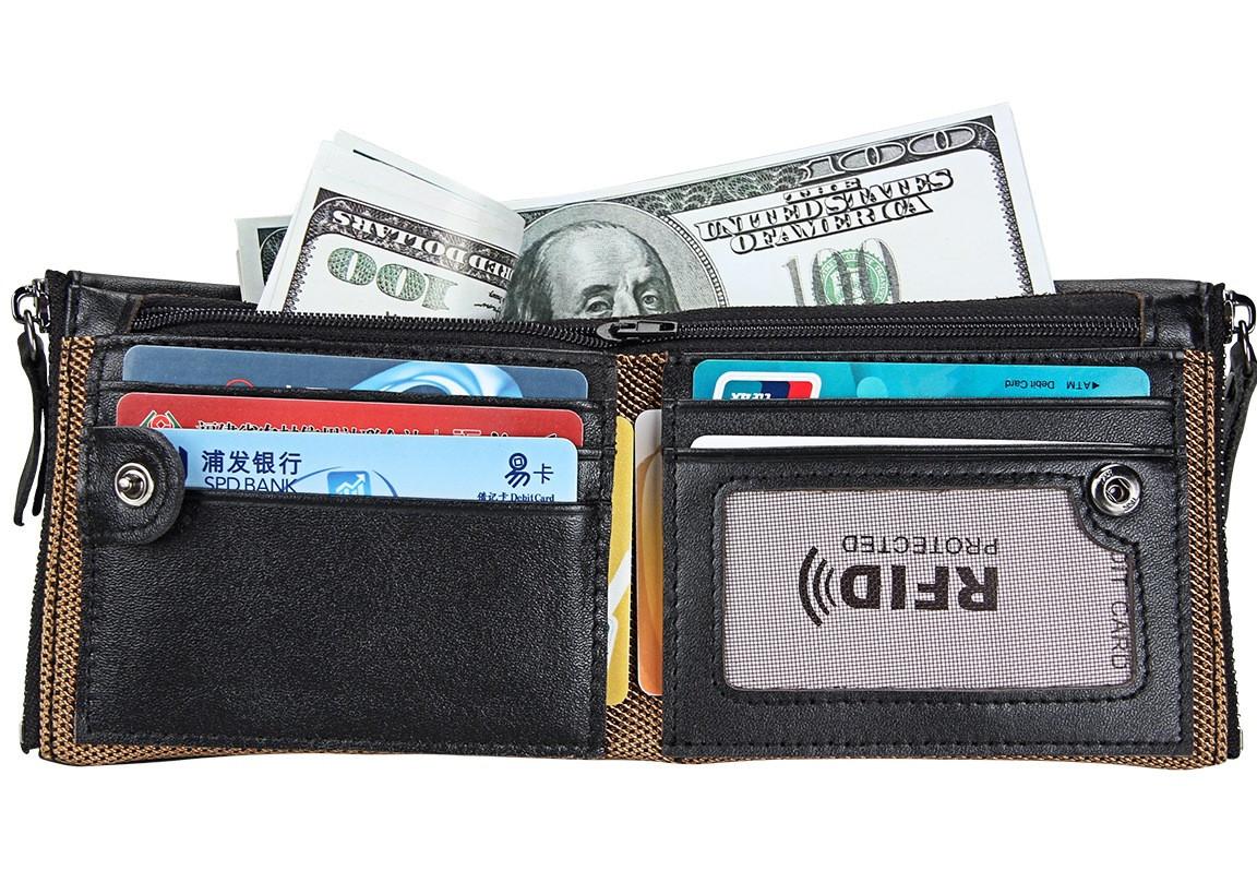 Портмоне кожаное RFID protected - ваша безопасность!