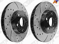 Комплект дисков тормозных передний перфорированные TOYOTA Ardeo /Opa /Premio /Allion /Corona ZZV50 /
