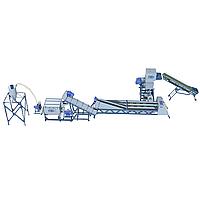 Интенсивная линия мойки полимеров с горячей водой - для канистр, ящиков, ведер и т.д (max толщина до 10 мм)