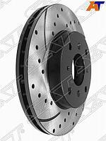 Комплект дисков тормозных передний перфорированные HONDA CR-V RD1 AT 95-, Accord /Torneo CF3 F18B