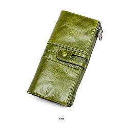 Длинное кожаное портмоне с RFID-защитой. Отличный подарок! Рассрочка. Kaspi red.