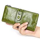 Длинное кожаное портмоне с RFID-защитой. Отличный подарок! Рассрочка. Kaspi red., фото 5