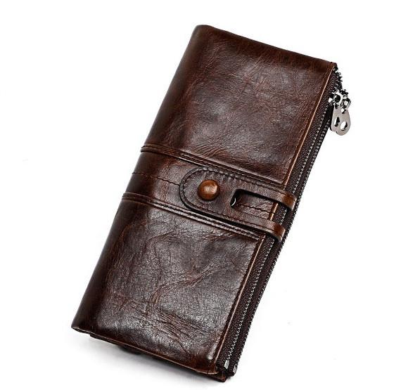 Кожаное длинное портмоне с RFID protected - ваша безопасность превыше всего!