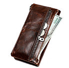 Кожаное длинное портмоне с RFID protected - ваша безопасность превыше всего! Рассрочка. Kaspi RED, фото 4