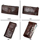 Кожаное длинное портмоне с RFID protected - ваша безопасность превыше всего!, фото 5