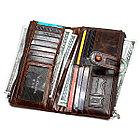 Кожаное длинное портмоне с RFID protected - ваша безопасность превыше всего! Рассрочка. Kaspi RED, фото 7