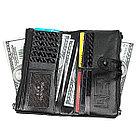 Длинное портмоне из натуральной кожи RFID protected - ваша безопасность превыше всего!, фото 6