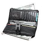 Длинное портмоне из натуральной кожи RFID protected - ваша безопасность превыше всего!, фото 5
