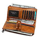 Длинное классическое портмоне из натуральной кожи RFID protected - ваша безопасность превыше всего!, фото 4