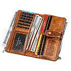 Длинное классическое портмоне из натуральной кожи RFID protected - ваша безопасность превыше всего!, фото 5