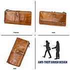 Длинное классическое портмоне из натуральной кожи RFID protected - ваша безопасность превыше всего!, фото 6