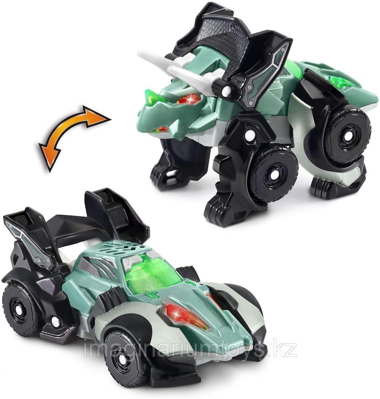 Машинка динозавр трансформер VTech Switch&Go Dinos Трицератопс мини