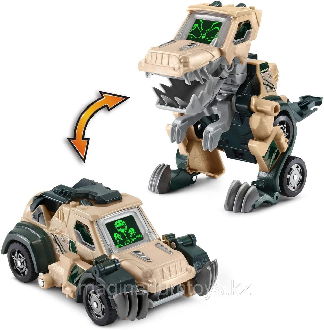 Динозавр трансформер машинка бульдозер VTech T-Rex.