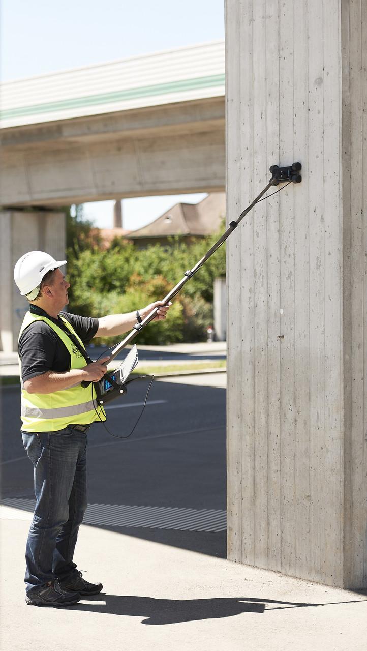 Прибор для измерения защитного слоя бетона и поиска арматуры Proceq Profometer 650 AI
