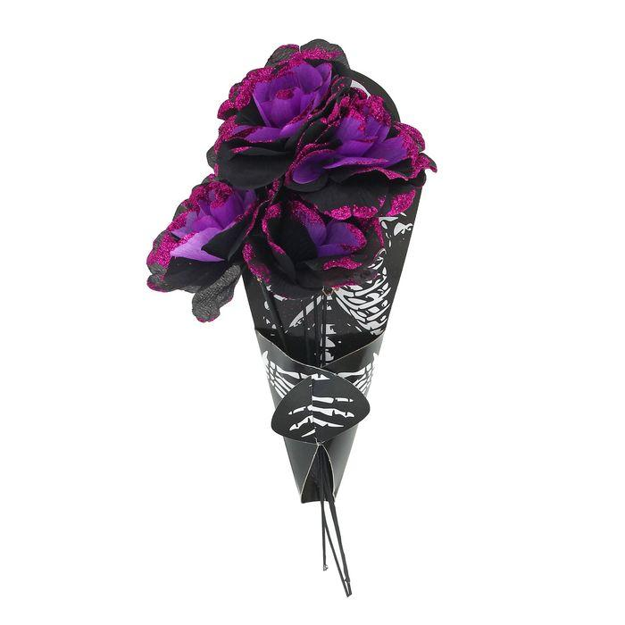 Букет цветов «Скелет», цвет фиолетовый