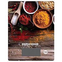 """Весы кухонные Redmond RS 736, электронные, до 8 кг, рисунок """"Специи"""""""