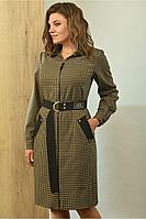 Женское осеннее платье Angelina 601 желтая_клетка 48р.
