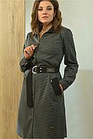 Женское осеннее платье Angelina 601 белая_клетка 48р.