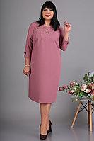 Женское осеннее розовое нарядное большого размера платье Algranda by Новелла Шарм А3629 62р.
