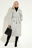 Женское осеннее драповое серое пальто Prio 2770z серый 42р.