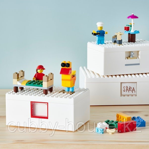 BYGGLEK БЮГГЛЕК LEGO® контейнер с крышкой35x26x12 см