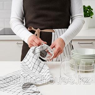 RINNIG РИННИГ Полотенце кухонное, белый/темно-серый/с рисунком45x60 см, фото 2