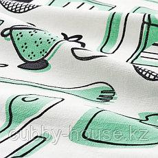 RINNIG РИННИГ Полотенце кухонное, бел/зелен/с рисунком45x60 см, фото 3