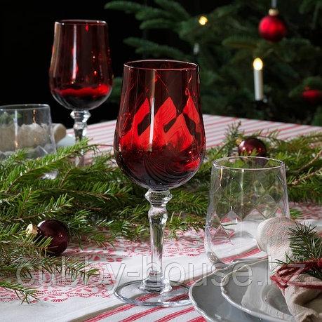 VINTER 2020 ВИНТЕР 2020 Бокал для вина, прозрачное стекло/красный33 сл, фото 2