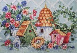 """Набор для вышивания крестом """"Уютное гнездышко"""