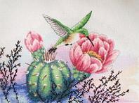 """Набор для вышивания крестом """"Колибри и кактус"""