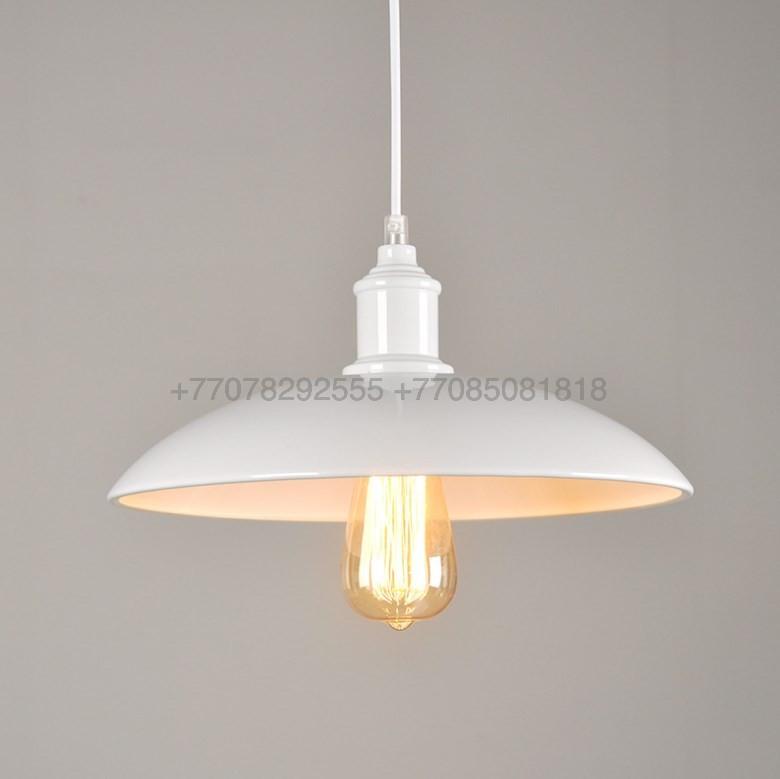 Белый подвес-тарелка Loft Style Metall