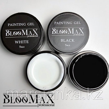 Гель краска BlooMax extra black, 5мл