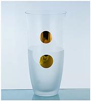 Ваза 25,5 см золотой круг (Bohemia, Чехия)