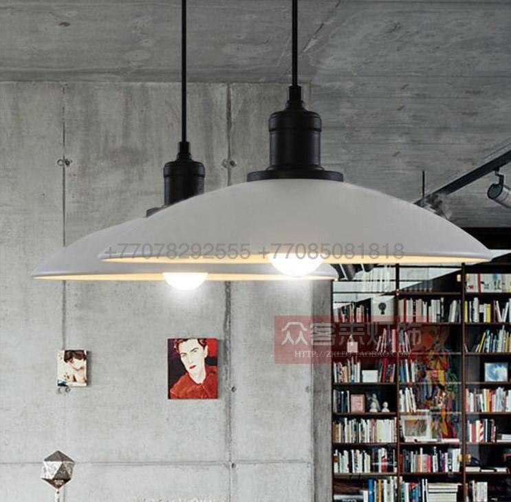 Черно-белый подвес-тарелка Loft Style Metall