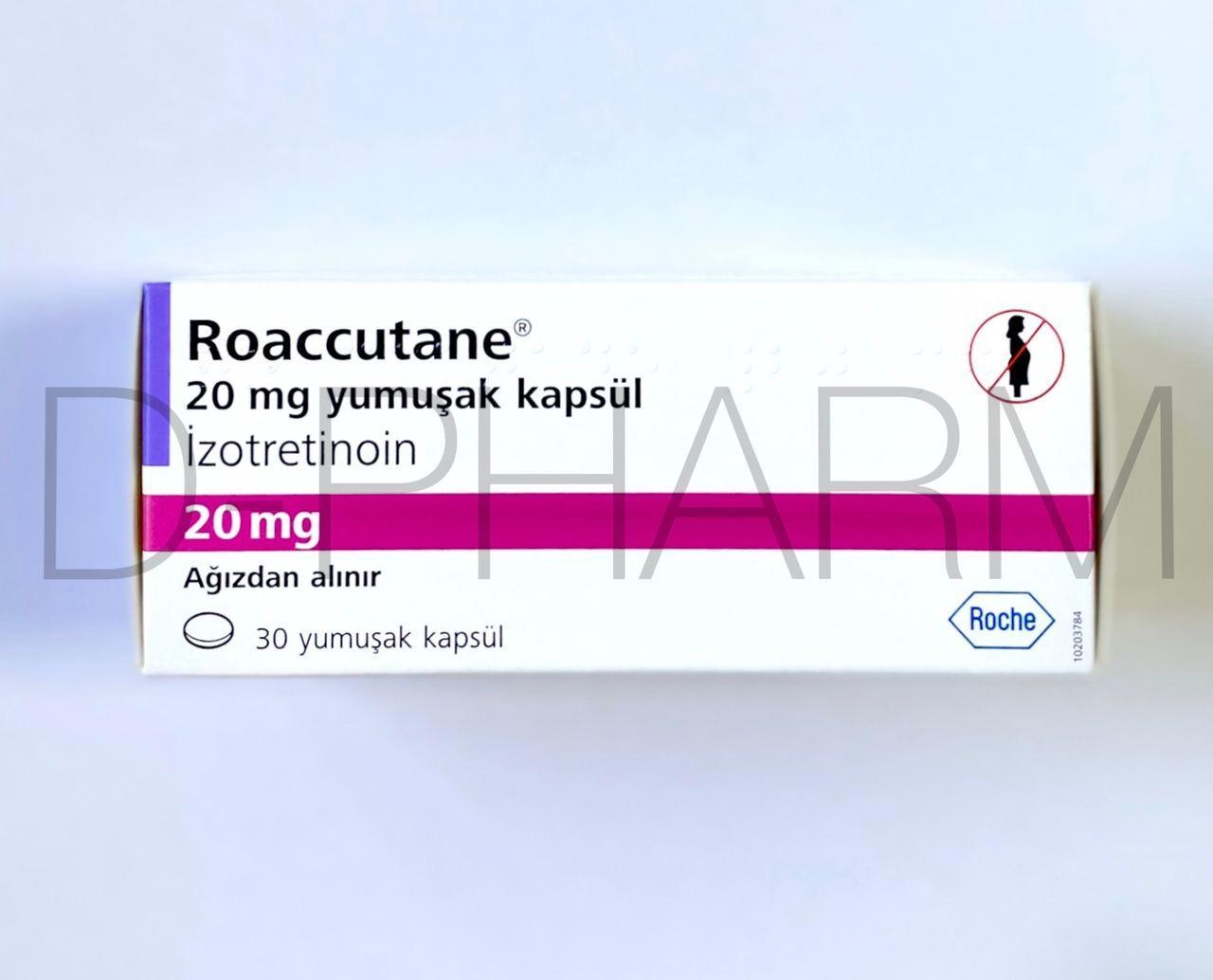 Роаккутан Изотретиноин 20 мг 30 капсул (Roaccutane Isotretinoin)