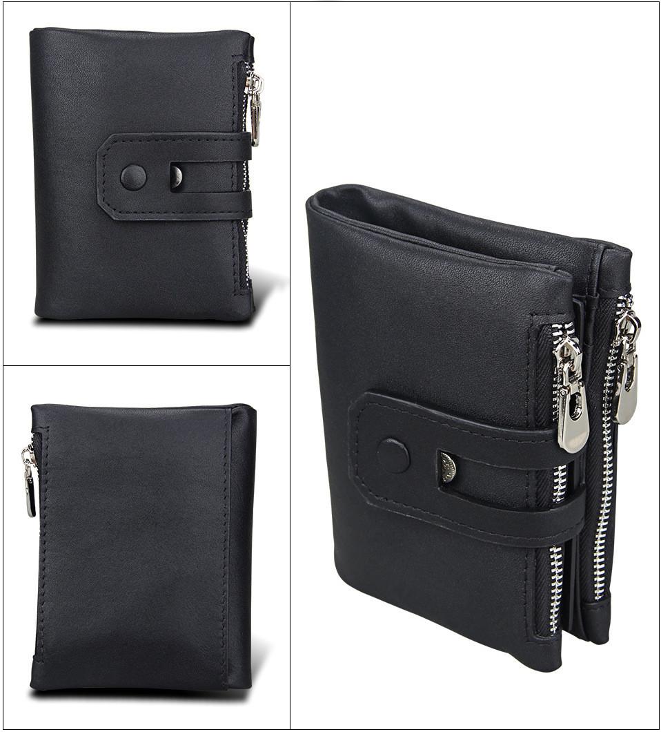 Кожаное портмоне от воровства с карточек - технология RFID. Лучший подарок!