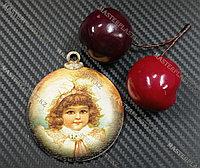 Новогодняя елочная игрушка деревянная (Шарик №13)