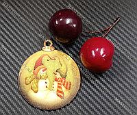 Новогодняя елочная игрушка деревянная (Шарик №54)