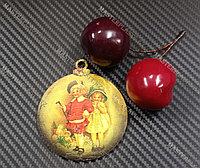 Новогодняя елочная игрушка деревянная (Шарик №55)