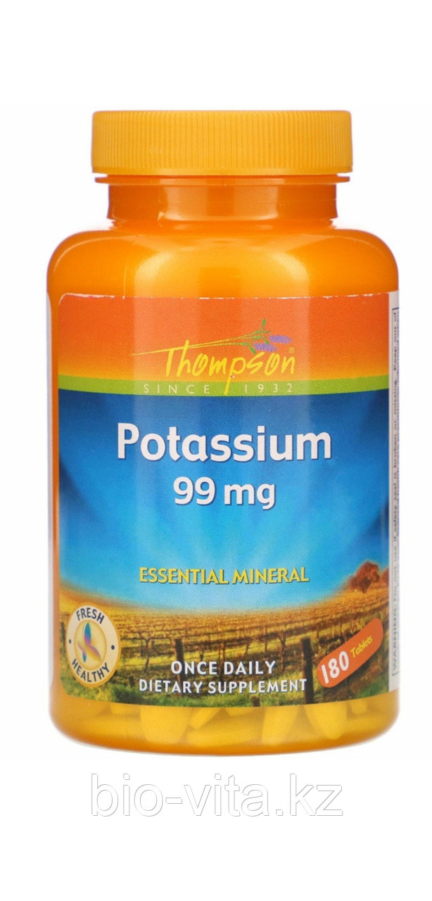 Thompson, Калий  (хелат) ( аминокислотный для лучшего усвоения) 180  таблеток