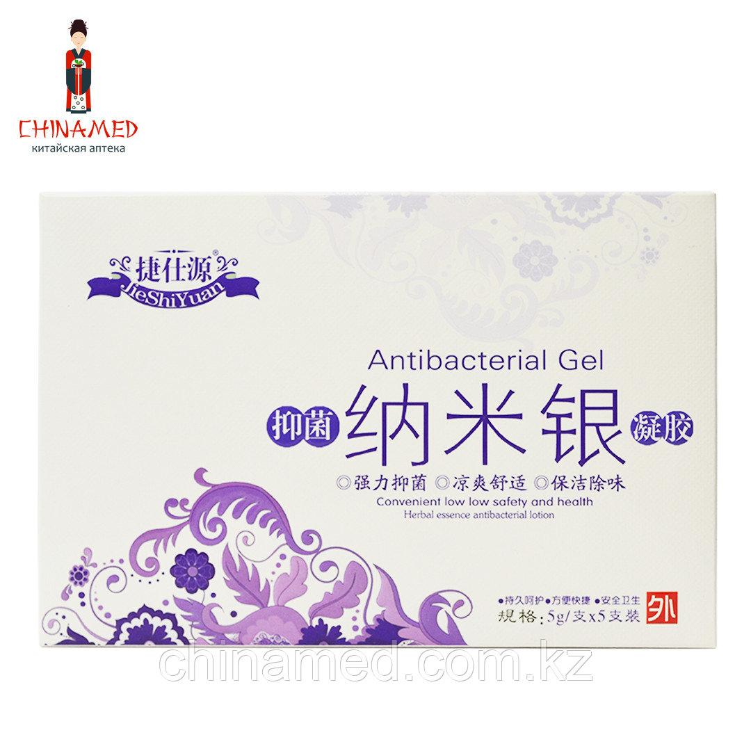 Травяной антибактериальный гинекологический гель JieShiYuan, 5 шприцов*5г