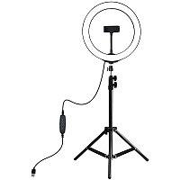 """Кольцевая USB LED лампа Puluz PKT3035 10"""" + штатив 1.1 м"""
