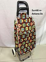 Хозяйственная сумка-тележка для продуктов на колесах.Высота 97 см, ширина 34 см, глубина 24 см.