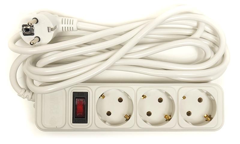 Сетевой фильтр PowerPlant 3 м, 3 розетки, евростандарт (JY-1054/3)