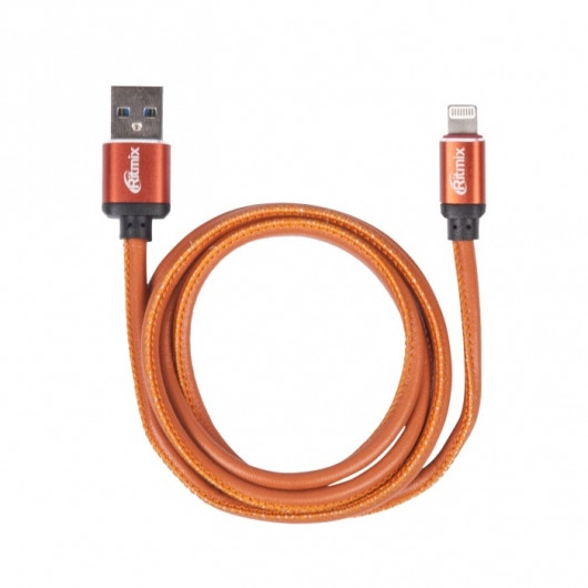 Кабель Apple Ritmix RCC-425 lightning-USB 2.5 A Leather