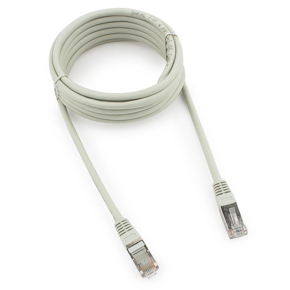 Патч-корд FTP Cablexpert PP22-3m кат.5e, 3м, литой, многожильный (серый)