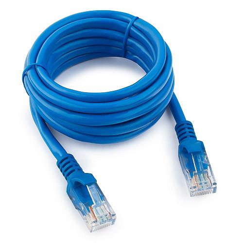 Патч-корд UTP Cablexpert PP12-2M/B кат.5e, 2м, литой, многожильный (синий)