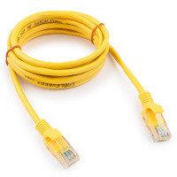 Патч-корд UTP Cablexpert PP12-2M/Y кат.5e, 2м, литой, многожильный (жёлтый)